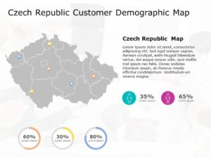 Czech Republic Map PowerPoint Template 4