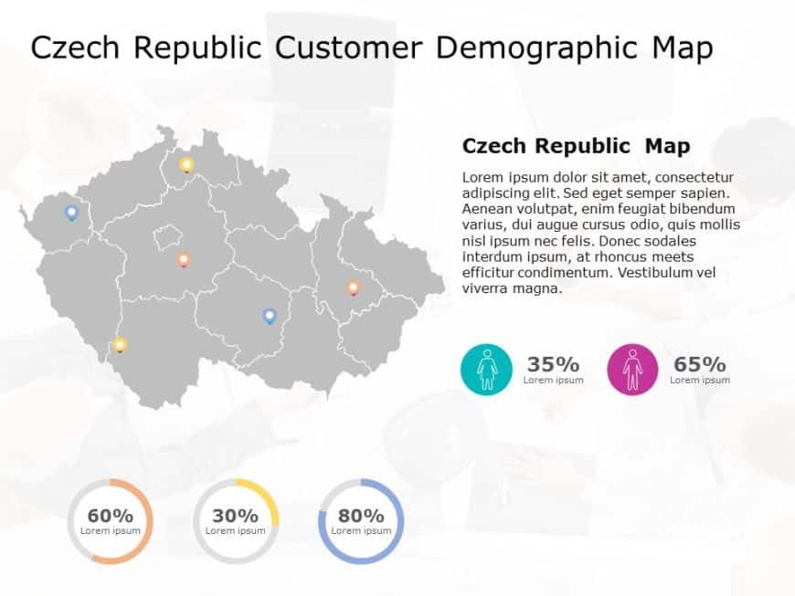 Czech Republic Map PowerPoint Template 4