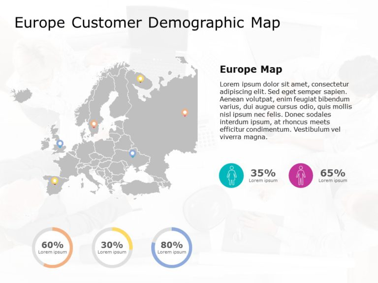 Europe Map PowerPoint Template 8
