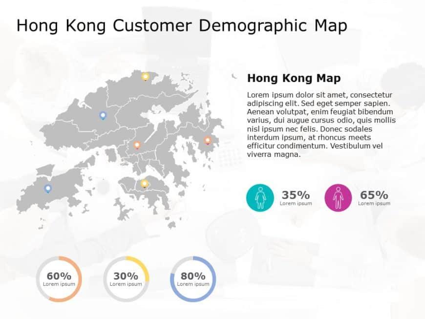 Hong Kong Map PowerPoint Template 7