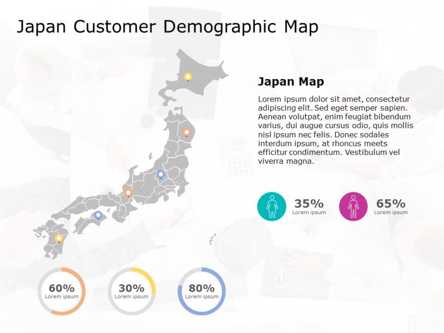 Japan Map PowerPoint Template 4