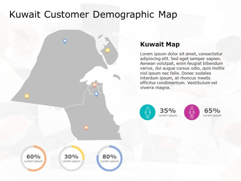 Kuwait Map PowerPoint Template 6