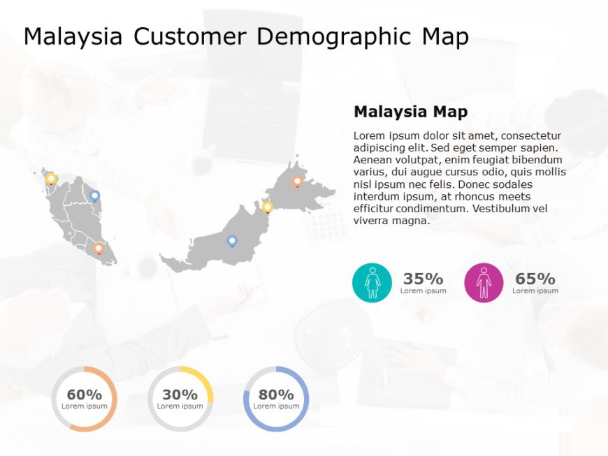 Malaysia Map PowerPoint Template 4