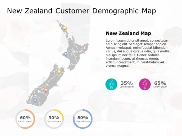 New Zealand Map PowerPoint Template 4