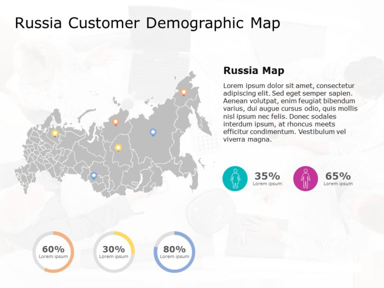 Russia Map PowerPoint Template 4