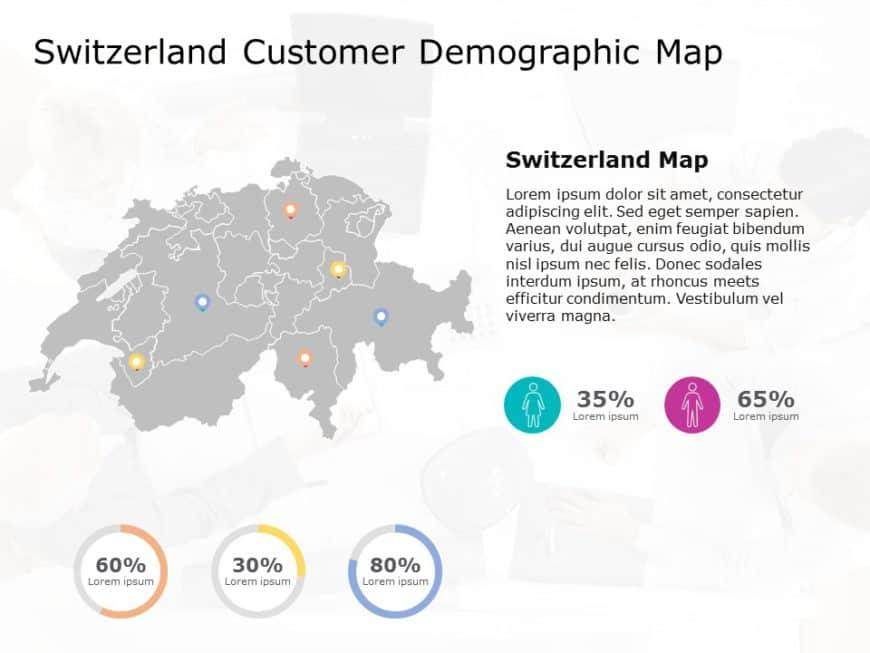 Switzerland Map PowerPoint Template 6