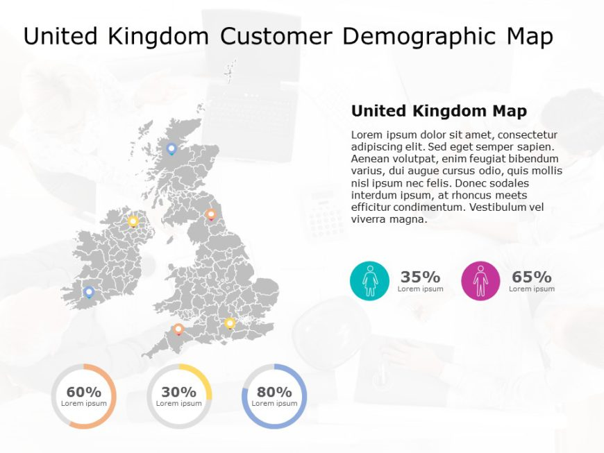 United Kingdom Map PowerPoint Template 8