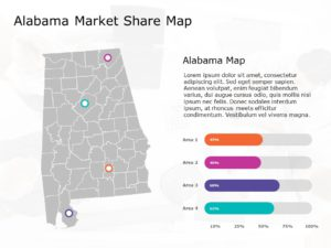 Alabama Map PowerPoint Template 6