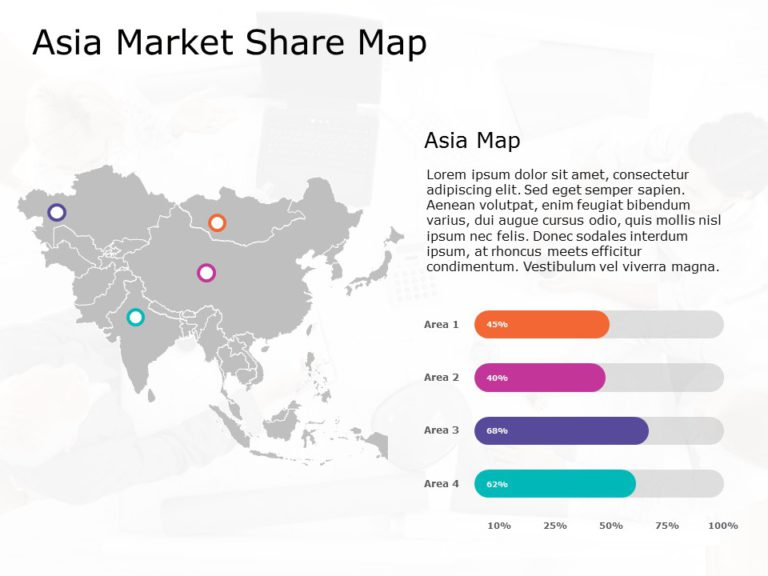 Asia Map PowerPoint Template 9