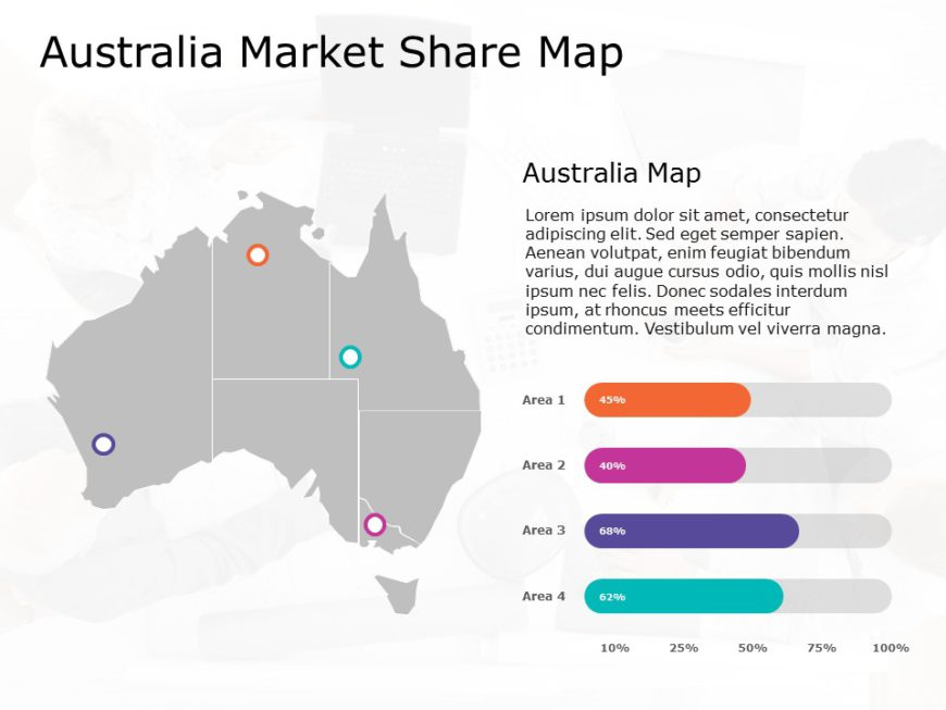 Australia Map PowerPoint Template 11
