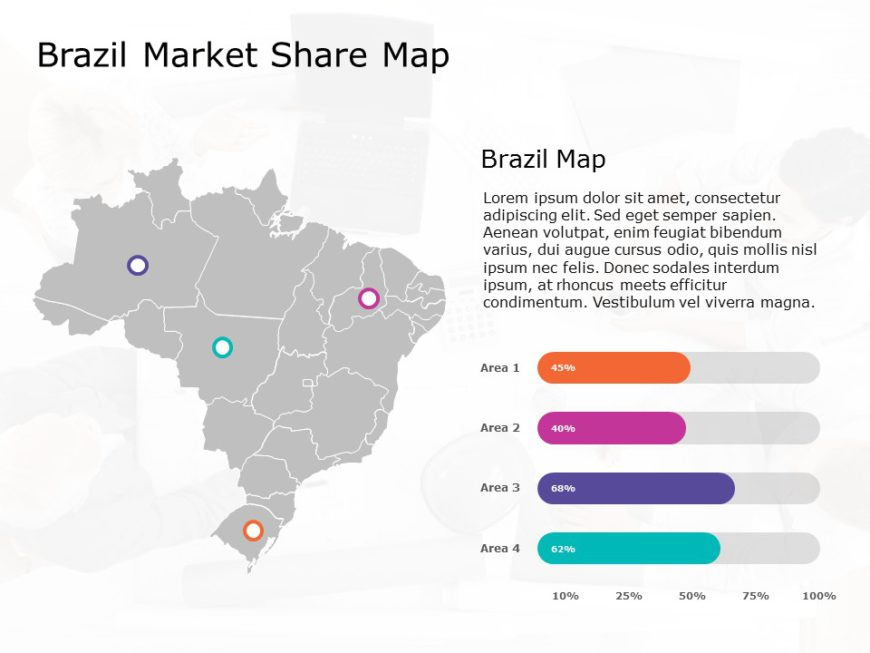Brazil Map PowerPoint Template 9