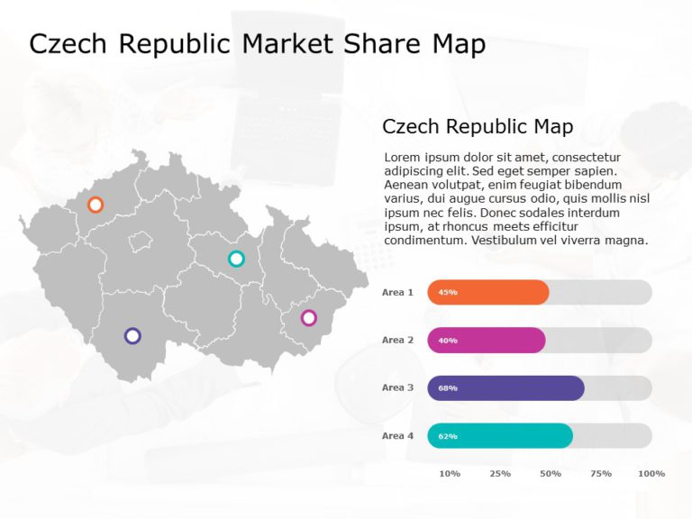 Czech Republic Map PowerPoint Template 2