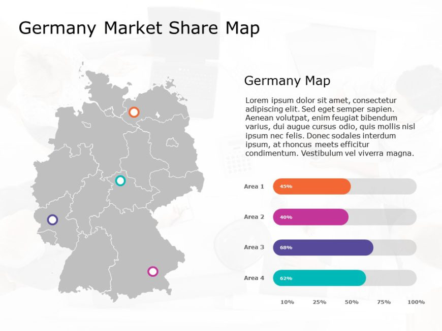 Germany Map PowerPoint Template 3