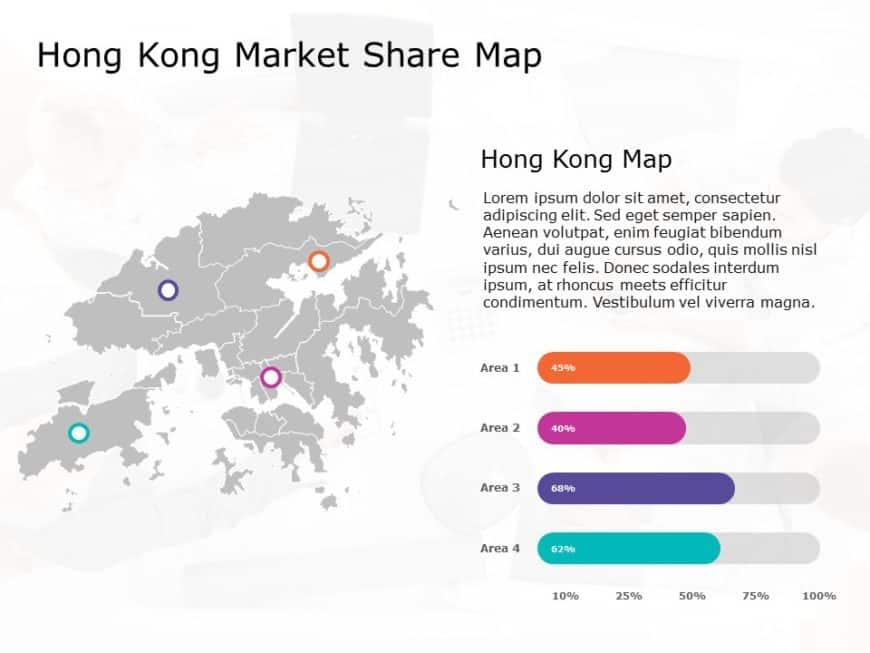 Hong Kong Map PowerPoint Template 8