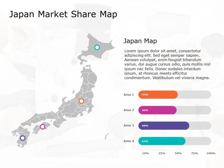 Japan Map PowerPoint Template 2