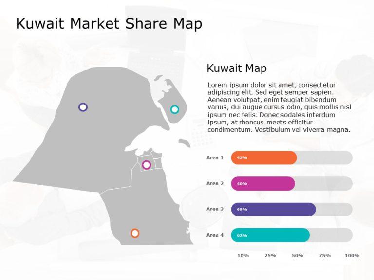 Kuwait Map PowerPoint Template 5
