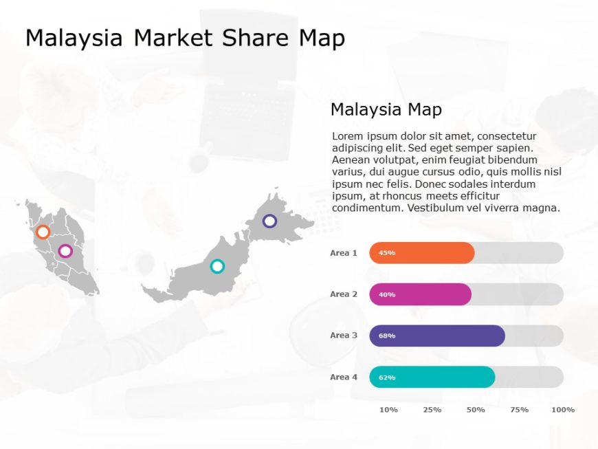 Malaysia Map PowerPoint Template 2