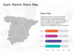 Spain Map PowerPoint Template 3
