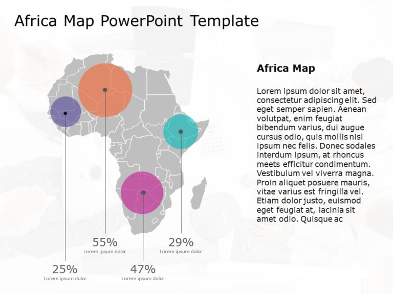 Africa Map PowerPoint Template 9