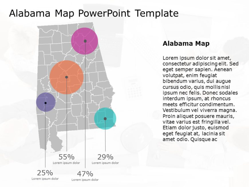Alabama Map PowerPoint Template 4