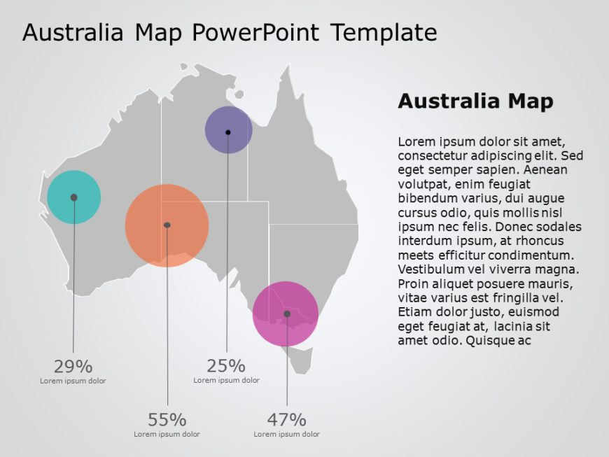Australia Map PowerPoint Template 12
