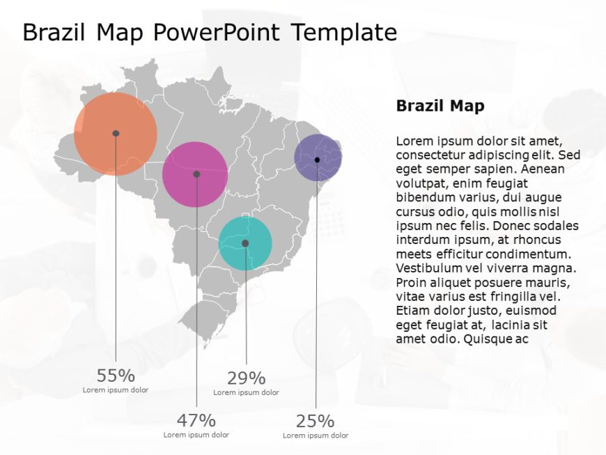 Brazil Map PowerPoint Template 10