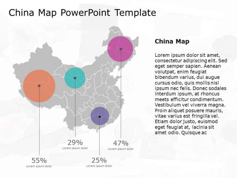 China map powerpoint template 6