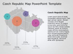 Czech Republic Map PowerPoint Template 3