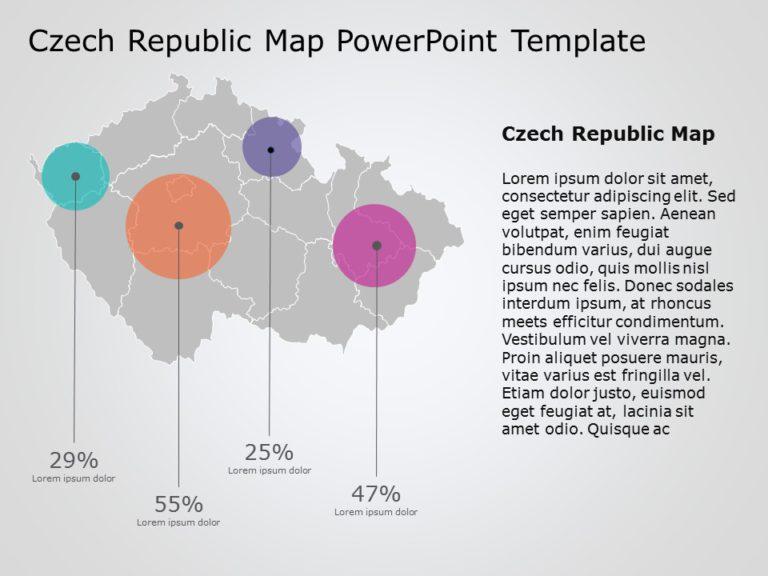 Czech Republic Map PowerPoint Template 3