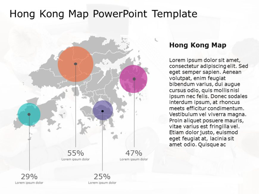 Hong Kong Map PowerPoint Template 4