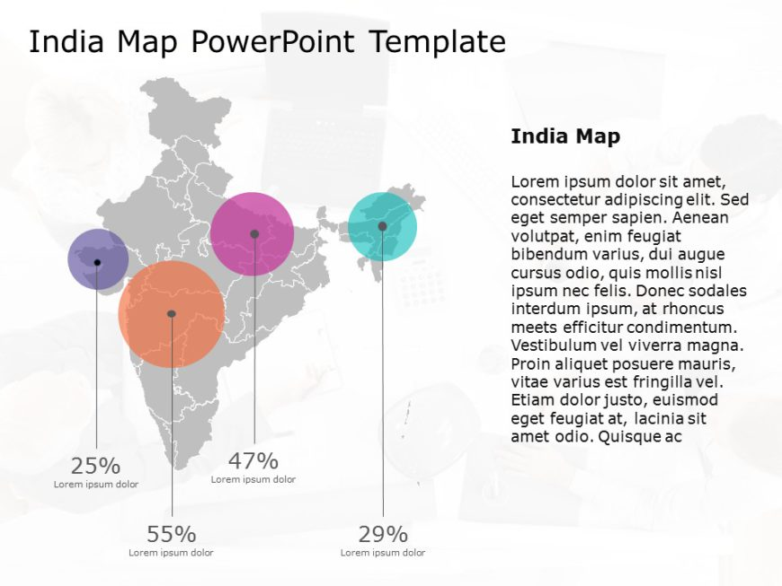 India Map Powerpoint Template 7