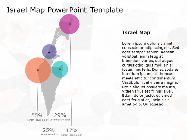 Israel Map Powerpoint Template 7