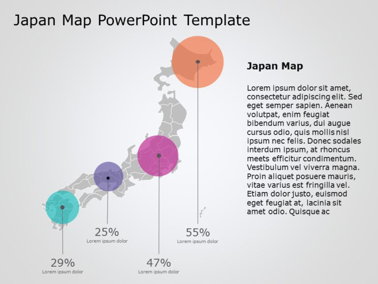 Japan Map PowerPoint Template 3