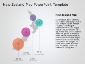 New Zealand Map PowerPoint Template 3