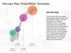 Norway Map PowerPoint Template 2
