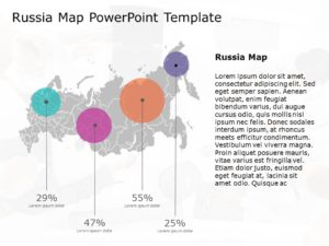 Russia Map PowerPoint Template 3