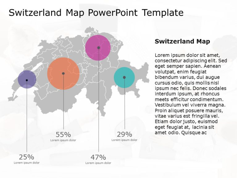 Switzerland Map PowerPoint Template 5