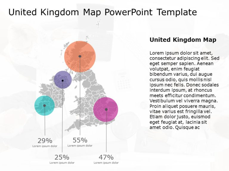 United Kingdom Map PowerPoint Template 9