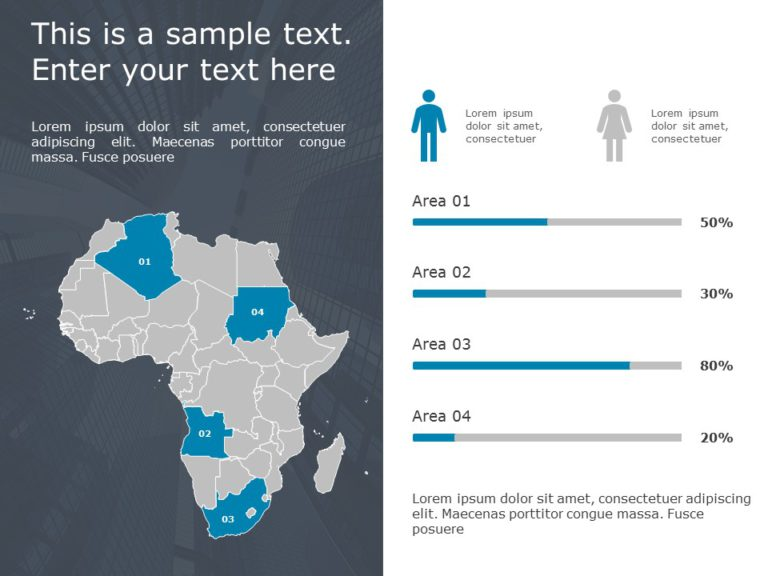Africa Map PowerPoint Template 4