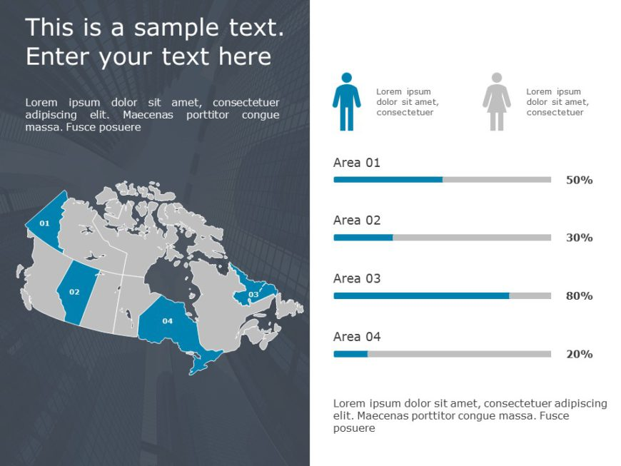 Canada Map PowerPoint Template 9