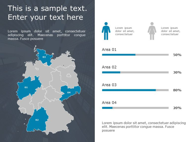Germany Map PowerPoint Template 4