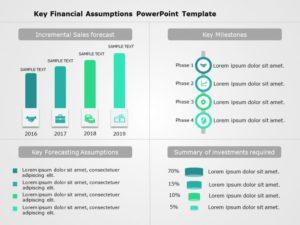 Key Financial Assumptions Powerpoint Template 1