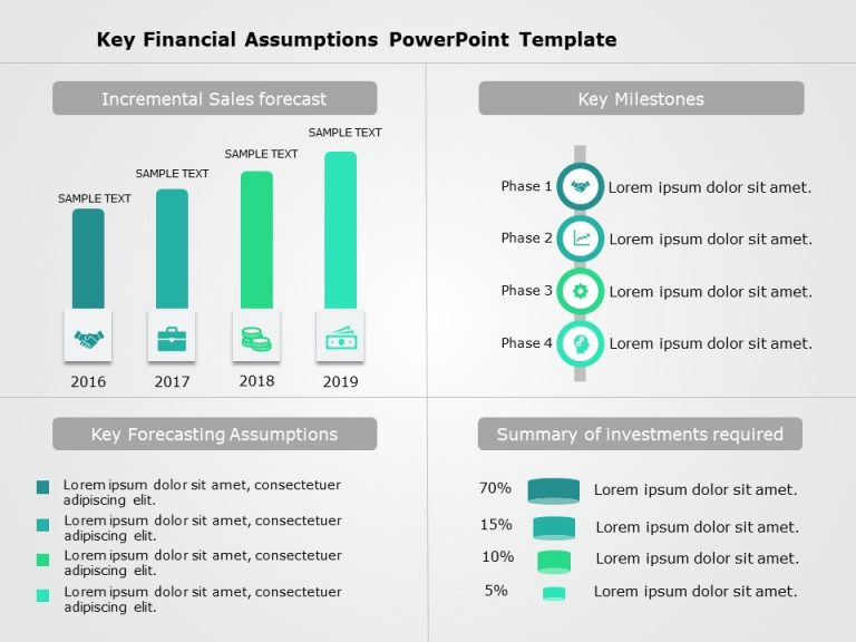 Key Financial Assumptions Powerpoint Template 1