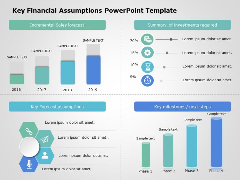 Key Financial Assumptions Powerpoint Template 2