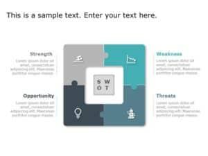 Matrix Strategy PowerPoint Template 1