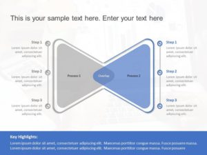 Overlaped Process Powerpoint Template