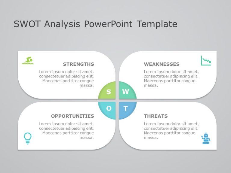 Petals Swot Analysis Powerpoint Template