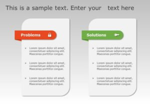 Problem & Solution PowerPoint Template 8