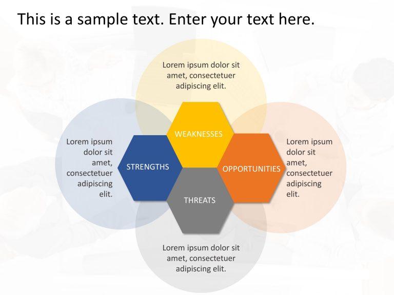SWOT Analysis Hexagon Template