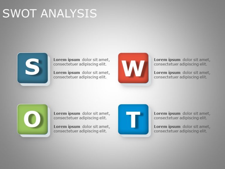SWOT Analysis PowerPoint Template 13